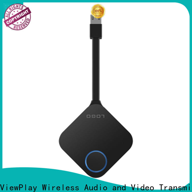 ViewPlay wireless dongle with undetectable latency for sharing apps to tv without app installation
