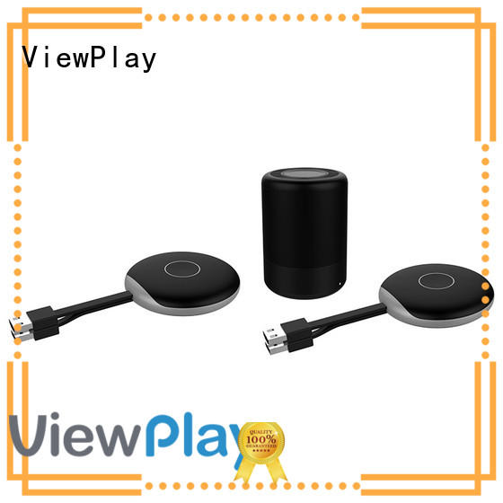 ViewPlay popular wireless presentation with two transmitters and one receiver for sharing apps to tv without app installation