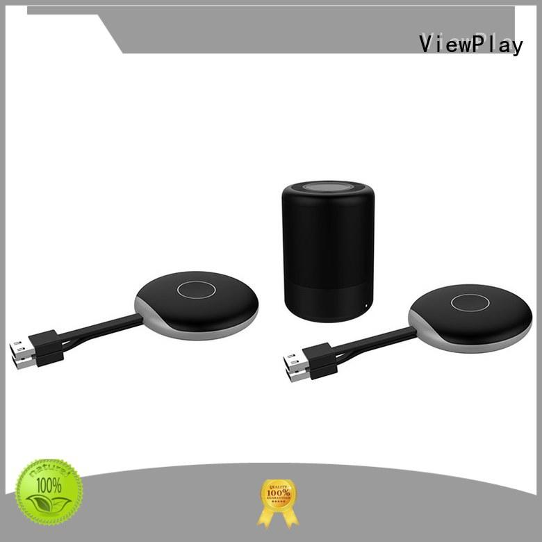ViewPlay wireless presentation system with simply click for sharing apps to tv without app installation