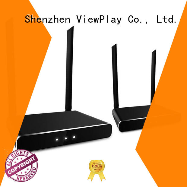 ViewPlay high end wireless vga transmitter and receiver with no discernable lag for sharing apps to tv without app installation